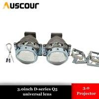 3.0 inch Bi Xenon Projector Lens LHD for Car Headlight 3.0 Koito Q5 35W Can Use with D1S D2S D2H D3S D4S Super Bright xenon kit