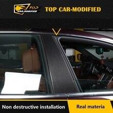 Free Shipping Exterior Trimscarbon fiber door pillars fender trim carbon sticker for Maserati Ghibli