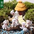 De dibujos animados 101 dálmatas figuras de acción de juguete cachorro PVC Doll Micro paisaje 50 unids/lote