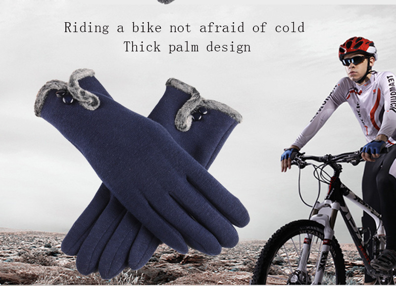 Comfortable and Warm Non Inverted Touch Screen Gloves for Women with Sensitive Touch Screen Function without Hand Exposing to Cold 9