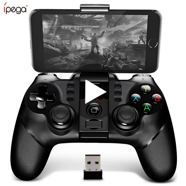 Ipega 9076 PG-9076 Bluetooth Gamepad Game Pad Controller Mobile Trigger Joystick For Android Cell Phone PC Hand Free Fire