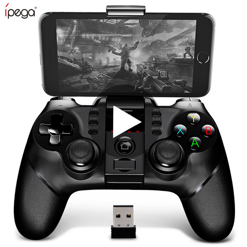 Ipega 9076 PG 9076 Bluetooth Gamepad Game Pad Controller Mobile Trigger Joystick For Android Cell Smart Phone TV Box PC PS3 VR|Gamepads| - AliExpress