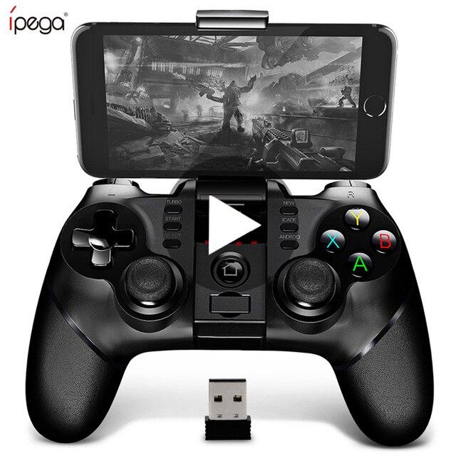Ipega 9076 PG 9076 Bluetooth Gamepad oyun pedi denetleyicisi mobil tetik Joystick için Android cep akıllı telefon TV kutusu PC PS3 VR