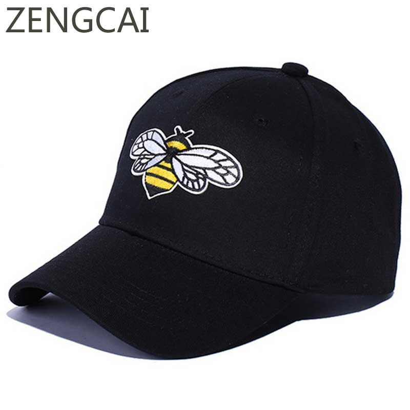 2018 Trucker Cap Embroidery Cock Bee Dad Hat Hip Hop Snapback Fitted Baseball Caps Women Men Casual Canvas Black Hats Adjustable letter embroidery dad hats hip hop baseball caps snapback trucker cap casual summer women men black hat adjustable korean style