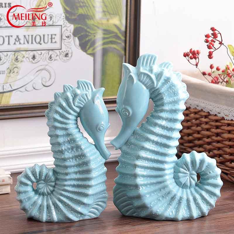 Ceramic seahorse wall hangingceramic seahorse figurine