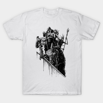 2017 Hot Summer Clothing Skull Warrior Print T Shirt Men Lords of Cinder, Lords of Ash Dark Souls Design T-Shirt Cool Tops Tees