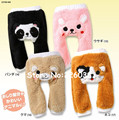 For Winter Baby PP Pants Infant Fashion Coral Fleece Cartoon Trousers Thickening Cute Cat Free Shipping