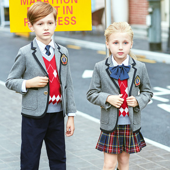High quality British School uniforms for boys and girls Autumn and Winter Kindergarten suits for students
