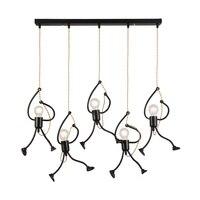 Кованые обезьяна лампы Кухня освещение современный бар светильник промышленный подвесной светильник украшения для дома подвесные светиль