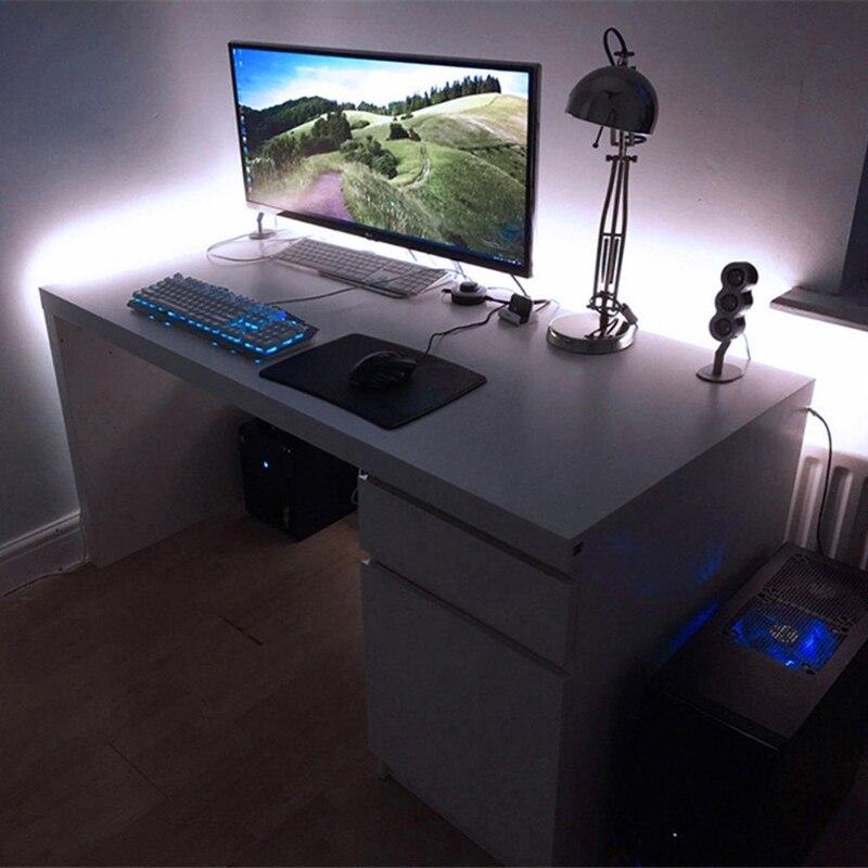 DC 5V USB 30 LED/m 5050 RGB Flexible LED Strip Light TV Back Lighting +24 Key Remote