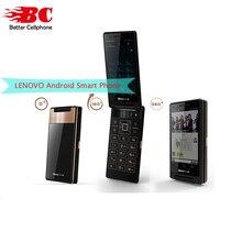 Оригинальный смартфон Lenovo a588t flip мобильного телефона Android 4,4 MTK6582 4 ядра 512 МБ Оперативная память 4 ГБ Встроенная память Dual Sim 4 «Сенсорный экран 5.0MP Камера