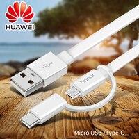 HUAWEI 2 ב 1 כבל USB מיקרו USB כבל מטען מהיר סוג C כבל USB נתונים C טעינה מהירה לכבוד 8 P10 P9 לייט לייט