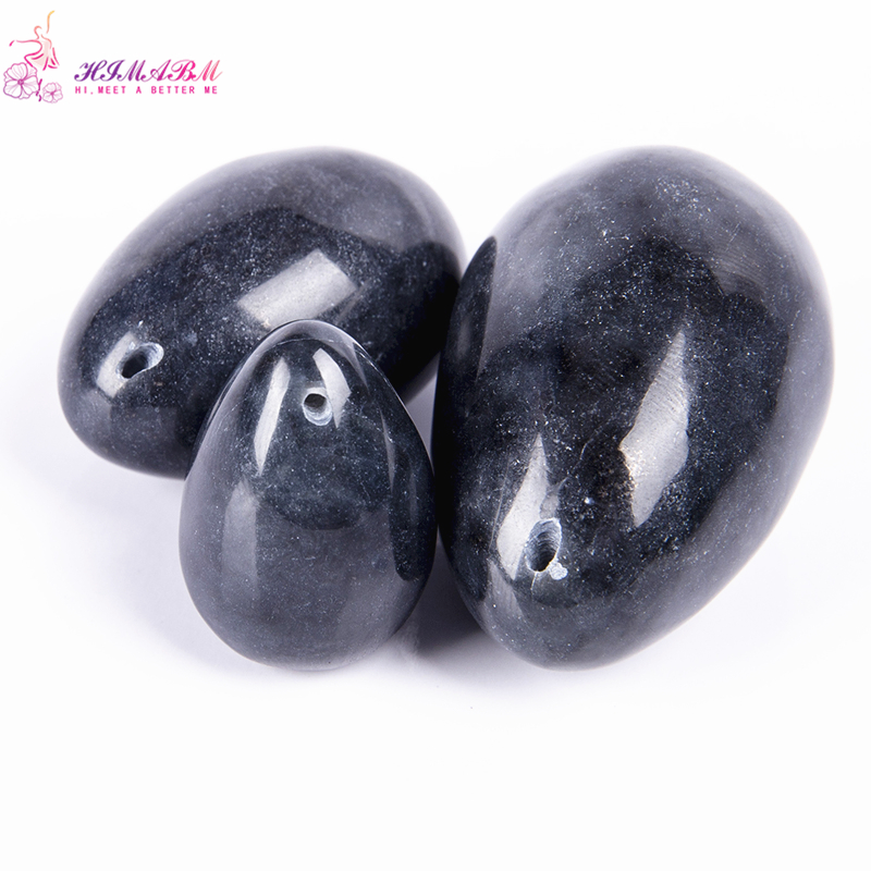 HIMABM 1 set black jade egg Pelvic floor Muscle Vaginal Ben Wa yoni egg for Kegel exercise postpartum recovery ben wa yoni himabm 1 set black jade egg pelvic floor muscle vaginal ben wa yoni egg for kegel exercise postpartum recovery ben wa yoni