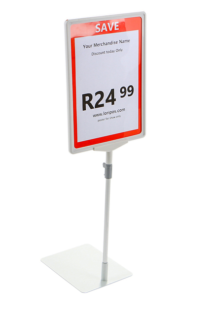 A4 frame white POP poster price label holder promotion poster floor stand table advertising rack desk sign display stand