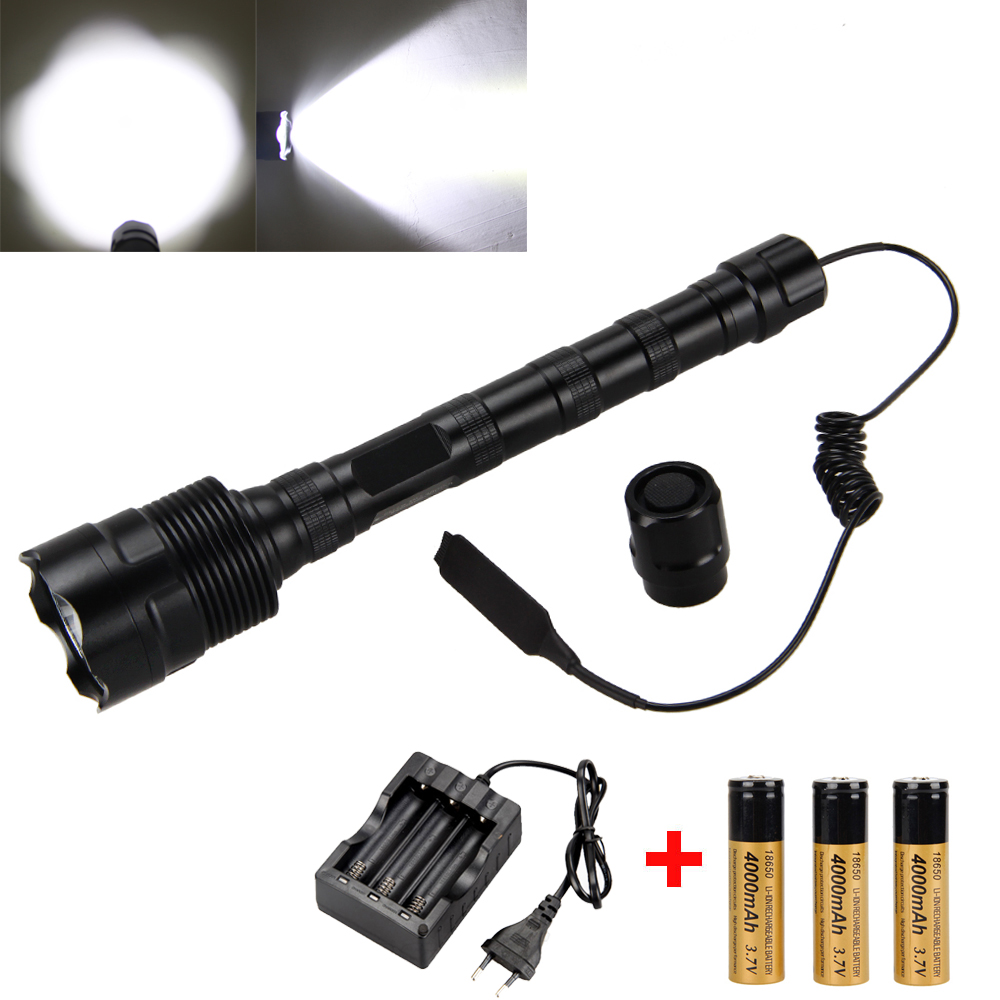 Tactical 6000LM 3x XM-L T6 LED Flashlight Torch+Pressure Switch+3x18650+Charger 2017 new design women fashion open toe buckle design over knee gladiator boots straps cut out high heel boots dress shoes