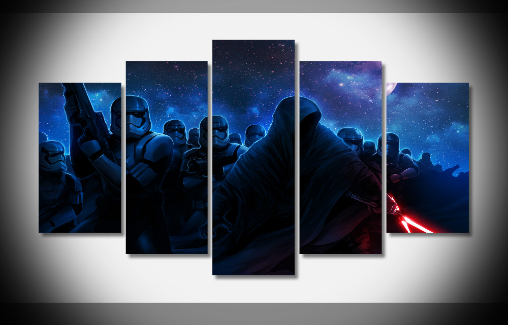 6534 star wars vii Poster movie poster Framed Gallery wrap art print home wall decor wall picture Already to hang digital print