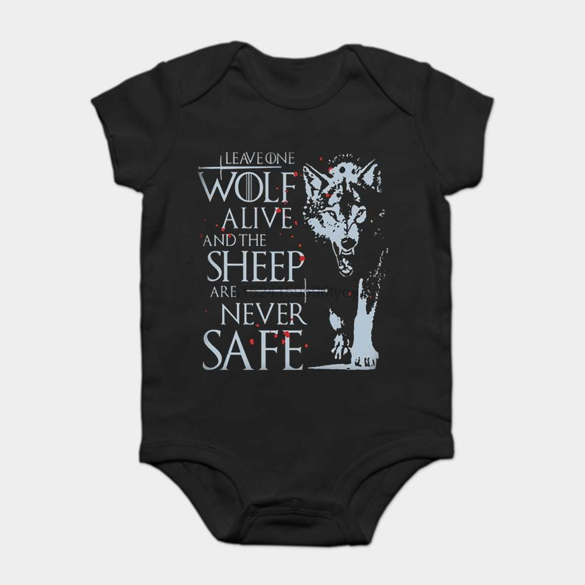 Baby Onesie Baby Bodysuits kid t shirt Arya Stark Game Of Thrones Leave One Wolf Alive Unisex