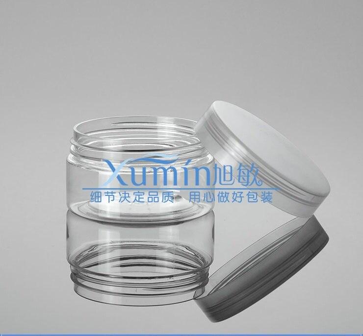 Botella de PET de 100g con hermosa tapa de PP transparente, tarro de crema de plástico transparente de 100 ml, tarro cosmético-in Botellas rellenables from Belleza y salud    1