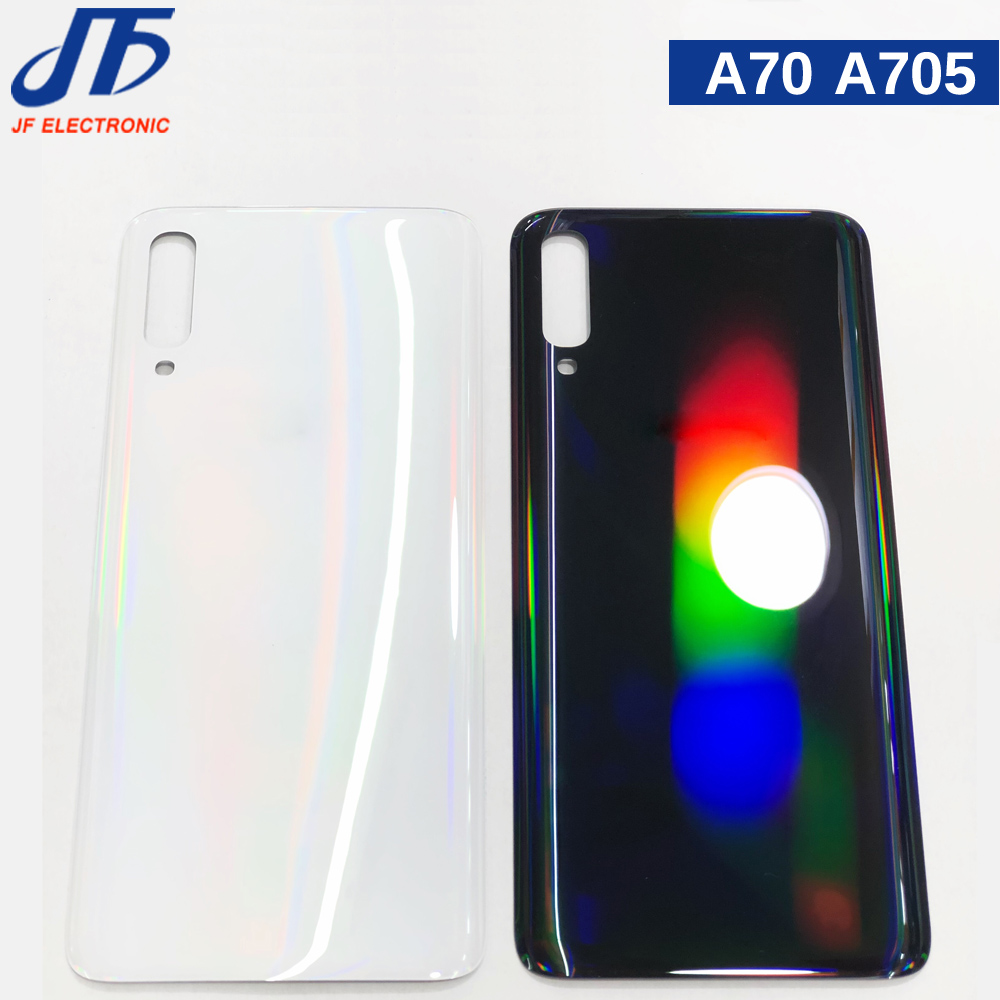 10pcs For SAMSUNG Galaxy A70 2019 SM-A705F A705 A705F Back Battery Cover Door Rear Glass Housing Case Replace Battery Cover