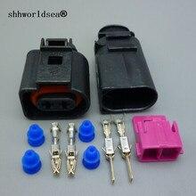 Shhworldsea 1 шт. штепсельный жгутовый разъём автомобильной проводки 1J0973722 8D0973822 электрические рупорный 1J0 973 722 1717692-1 8D0 973 822