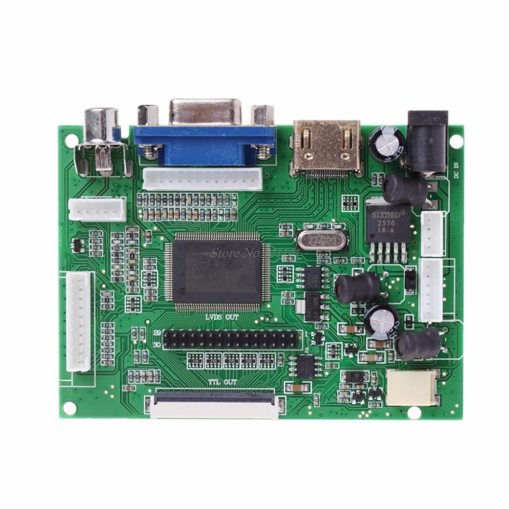 AT070TN90/92/94 7inch VGA 50pin LCD Driver Board LCD TTL LVDS Controller Board Dropship
