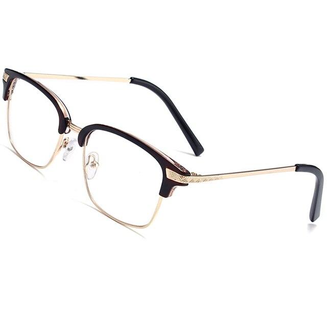 276750c7b23 Vintage Retro Clear Lens Glasses Women Semi-Rimless Frame Brand Designer  Goggle Eyewear Anti Blue Light Eyeglasses Men Hot Sale