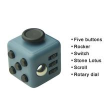 11 Types 3.3cm Fidget Cube Toys A Vinyl Desk Toys For Girl Boys Chrismtas Gifts Fidget Cube Black Green Red Toys Cube dropseller