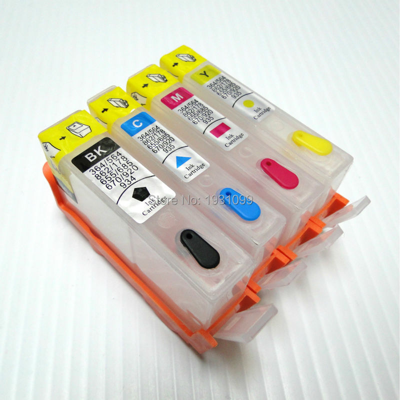 YOTAT 1set For HP178 <font><b>HP178XL</b></font> HP 178 Refillable ink cartridge without chip image