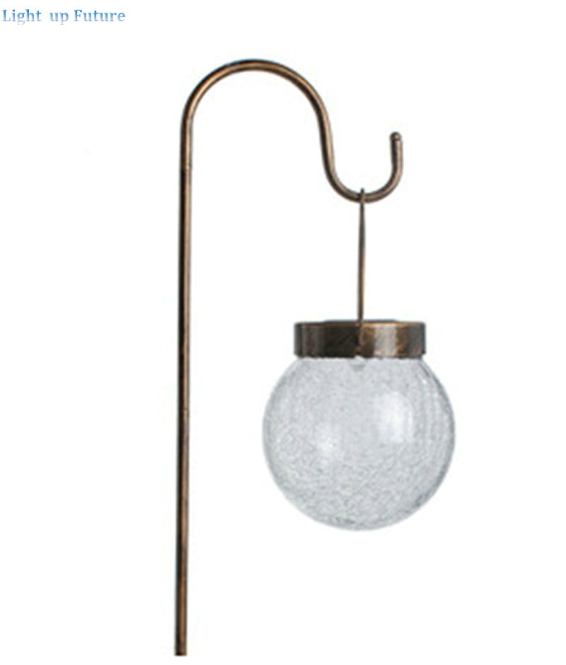 Free shipping crack ball solar lamp vintage garden lawn colorful LED light solar charging panel lamps1004 free shipping crack ball solar lamp vintage garden lawn colorful led light solar charging panel lamps1004