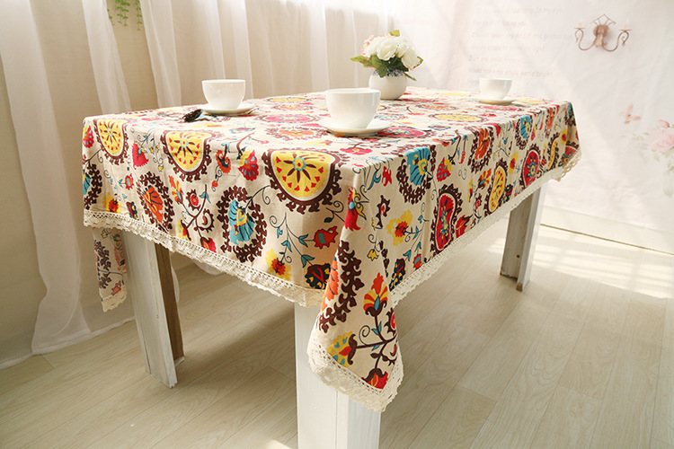National wind explosion models cotton linen tablecloths Sun flower table cloth tablecloth Table Covers for Wedding Party Home 15