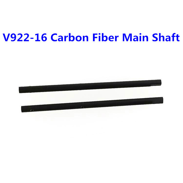 Wholesale 5pairs/lot WL V922 6CH 3D Flybarless RC Helicopter Parts V922-16 Carbon Fiber Main Shaft Free Shipping