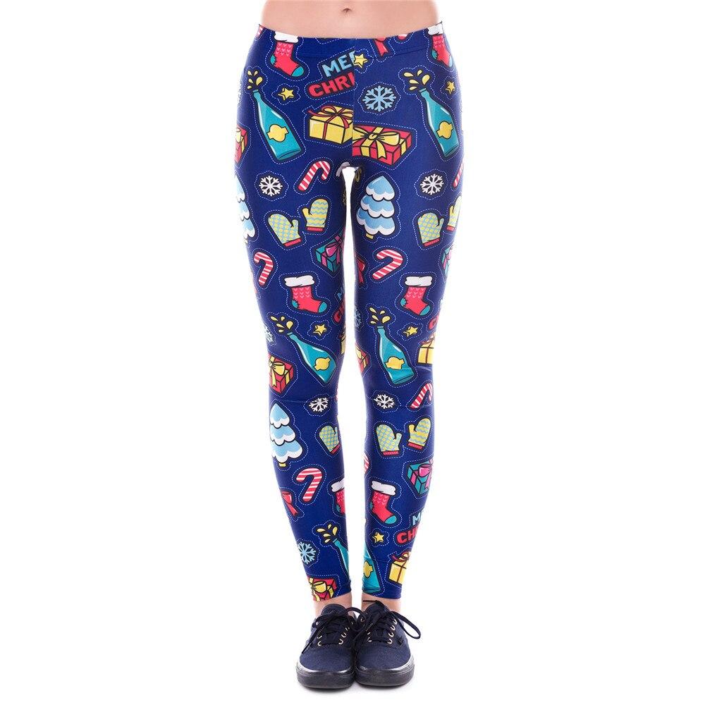 high quality Christmas Printing Leggings Put Hip Elastic High Waist Legging Breathable Merry Christmas Pants Cosplay costume