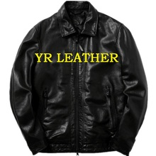 YR!Free shipping.Pakistan sheepskin.Brand man Luxury japan casual style leather jacket,vintage genuine leather coat,