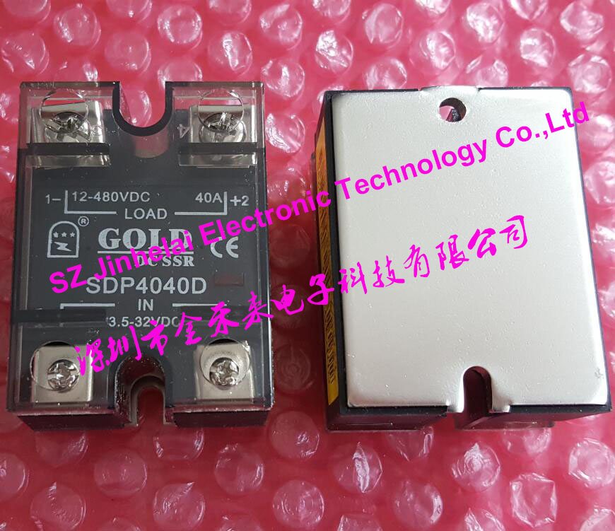 SDP4040D New and original GOLD DC-DC Solid state relay DC SSR RELAY 3.5-32VDC, 12-480VDC 40A new and original sa34080d sa3 4080d gold solid state relay ssr 480vac 80a
