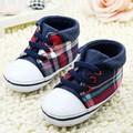 Zapatos de bebé recién nacido del muchacho de marca suaves del pesebre prewalker niño zapatos de lona de la zapatilla de deporte deportes zapatos casuales 0-18 m