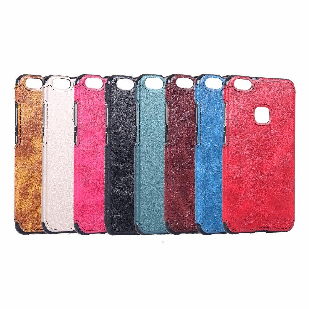 För Huawei P10 Lite Väska Mjukt TPU Läder Klistra in huden Silikon - Reservdelar och tillbehör för mobiltelefoner - Foto 2