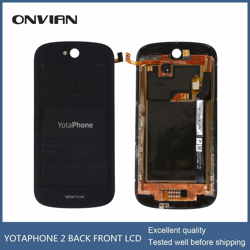 Цена за Для YotaPhone 2 YD201 ЖК-экран назад сенсорный экран стекло пленка для YotaPhone 2 YD201 сенсорный экран стекло с пленкой