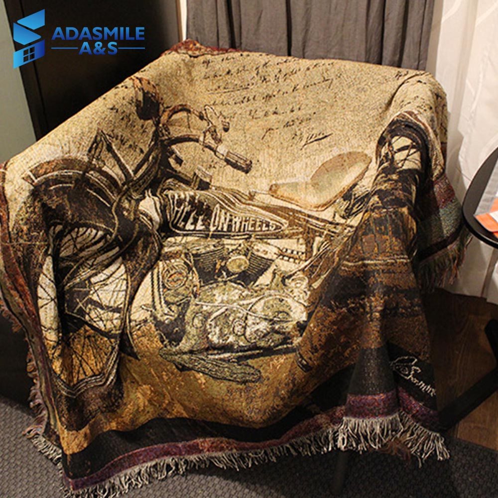 Classic Breien Leisure Gooi Bed Sofa Sprei Woondecoratie Motorfiets Opknoping Wandtapijten Couch Cover Auto Warme Dekens