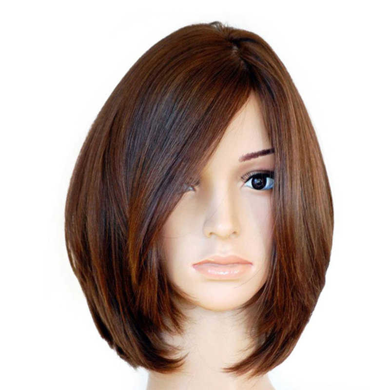 Kosher Jewish Wig Lace Front Human Hair Wigs With Baby Hair European Hair Wig Short Frontal Wig Silk Base Wig