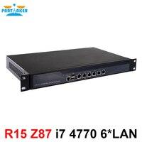 Настольных компьютеров сервер 1U брандмауэр pfsense 1U Firewall маршрутизатор с 6 Gigabit LAN Intel 4 ядра i7 4770 3,9 ГГц Wayos PFSense ROS
