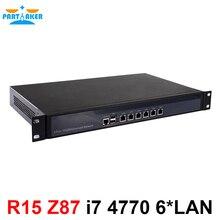 Serveurs de bureau 1U pare feu pfsense 1U pare feu routeur avec 6 Gigabit LAN Intel Quad Core i7 4770 3.9Ghz Wayos PFSense ROS