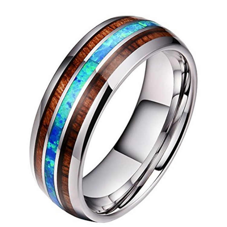 Ceramics Tungsten Steel Ring 8MM Polished Matte Silver Filled Rings for Men Women Classic Stainless Steel anello uomo Size 5-13