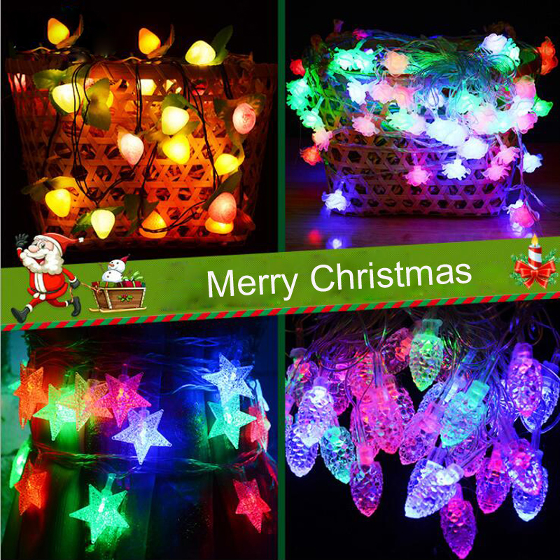Christmas Light Balls.Us 5 54 1pcs Lot 5meters 28 Lamps String Led Christmas Light Balls Stars Snowflake Pineal Colorful Lights For Party Wedding Decorations In Party Diy