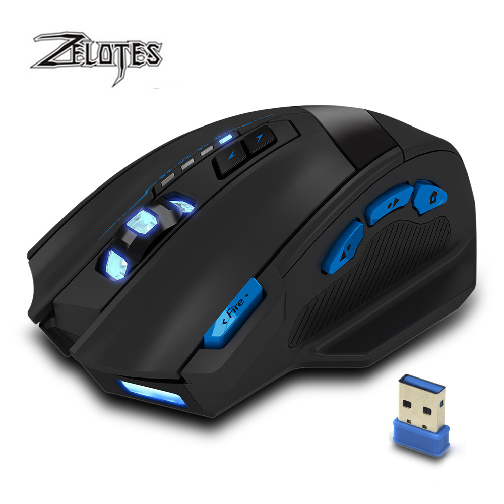 Image 2 - ZEALOT F 15 hot sale Original Dual mode Gaming Mouse 2500 DPI With Wireless Adjustable DPI-in Mice from Computer & Office