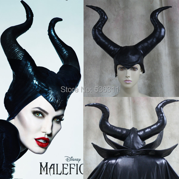 maleficent costumes girls Carnival hair accessories maleficent hat cosplay costumes sexy maleficent horn party dresses hat
