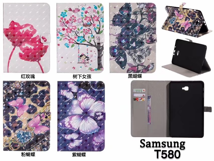 Cases Cover SM T585 T580N PU Leather Stand Tablet Case For
