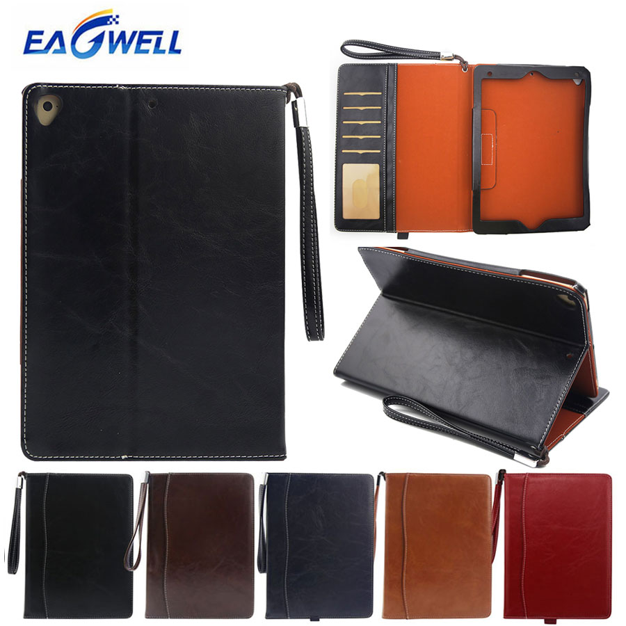Tablet Case For Ipad 9.7 2017 2018 Pro 9.7 Inch Air 2 Air 1 Cover Pu Leather Briefcase Full Body Protector Flip Case Stand Cover Computer & Office