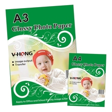 A4 size Inkjet Printer Glossy Photo Paper / Photographic Quality Colorful Graphics Output Album covers ID card glossy photo pape все цены
