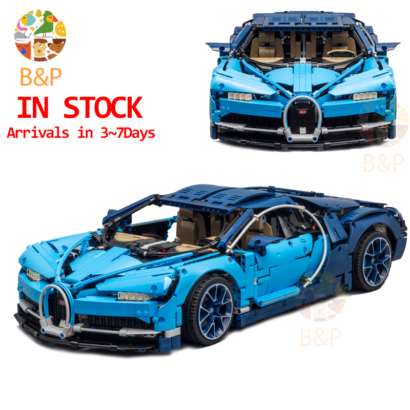 DHL Legoing 4031pcs Technic 42083 The Bugatti Chiron Racing Car Sets Model Building Block Brick Toys