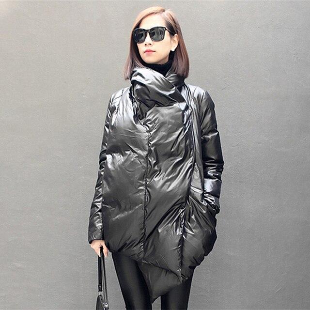 De Doudoune Design Hiver Mode Asymétrique Femmes Européenne Longueur qZtUUF